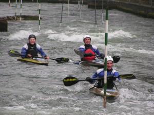 Patrick, Jörg und Yannick beim Training in Augsburg